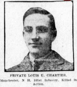 Louis U. Chartier from the Boston Globe newspaper of 1918.