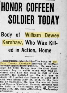 From The Decatur Herald, Decatur IL, 30 March 1921