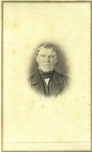 """Photograph taken at S. Piper Photographer studio in Manchester NH. Undated. Written in pencil: """"Samuel Marden"""""""