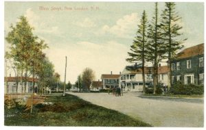 New London's main street circa 1900. From an old postcard.