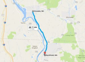 Northfield MA and Hinsdale NH were neighboring towns.