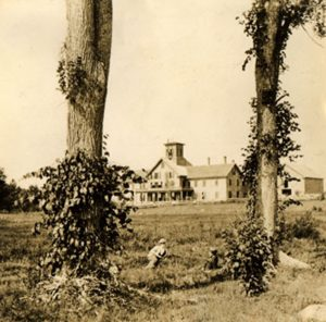 Photograph of Birch-dale Springs hotel from the Amsden History of Concord NH
