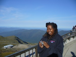 Vanessa Washington-Johnson at the Mt. Washington Observatory  on 2 September 2007.