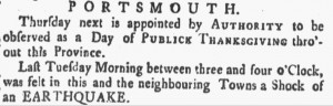 News article: Thursday, November 18, 1756 New-Hampshire Gazette (Portsmouth NH) Issue 7, page 4