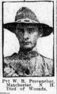 Photograph of W.R. Provencher from the Boston Globe of December 1918