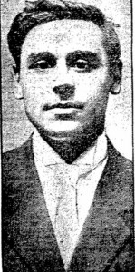 A youthful looking Richard Recchia from a 1917 newspaper.