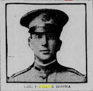 Likeness of Frank Booma, from the Boston Globe newspaper of 2 September 1917.