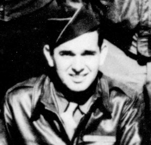 Arthur St. Pierce, close-up from his bomber group photo above.