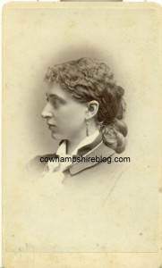 Photograph of Addie G. (Whittemore) Tallant, taken at MGC Kimball photographer in Concord NH circa 1870