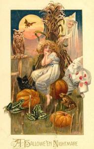 woman cornfield halloween victorian