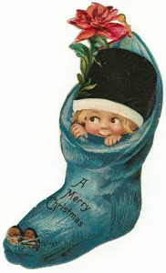 child in stocking