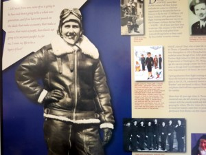 Anita Paul's achievements highlighted on wall of New Hampshire Aviation Museum. Copyright Janice Brown 2013.