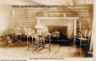Postcard of the Antler Tea Room, Wonalancet