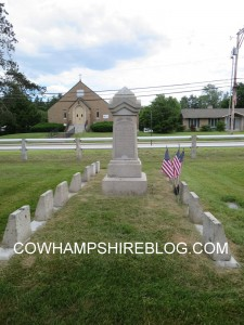 Nathaniel Barker burial location in Last Rest Cemetery, Merrimack NH.