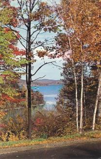View of Lake Winnipesaukee- old postcard