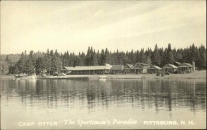 View of Camp Otter from the water, from an old post card, Pittsburg, NH