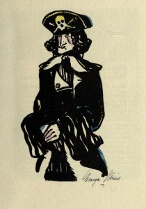 Likeness of William Kidd from KIDD: A Morale Opuscule, by Richard J. Walsh and George Illian, 1922.