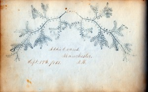Detail of autograph book inscription by