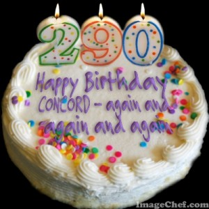 "In 2015 Concord can celebrate many birthdays--290 years from its founding, 250 from its incorporation as the town named Concord (note there were 2 previous names), and 162 years as a ""city."""