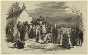 Irish Emigrants Leaving Home -- The Priest's Blessing, 1851, The New York Public Library Digital Collections