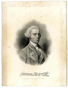 Engraving. Portrait of Governor John Wentworth (1737-1820). Engraved by H. W. Smith. New Hampshire Historical Society Collection