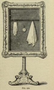 The Magic Picture Frame, a prop used by magicians, from Modern magic:A practical treatise on the art of conjuring by Professor Hoffmann, at the Internet Archive.