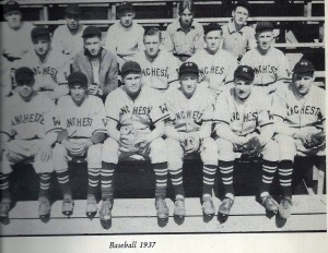 Manchester West High School baseball team of 1937