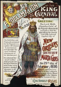 Proclamation by the King of the Carnival, 1936, Boston Public Library, Print Department