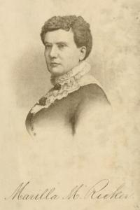 Likeness of Marilla M. Ricker from I Don't Know, Do You? by Marilla M. Ricker