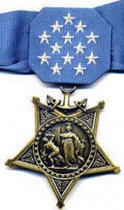 Medal of Honor awarded to Marines, Navy and Coast Guard.