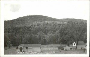View of the Mink Hills, Warner NH near the home of the Osgoodites.