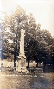 Soldier's Monument in New Ipswich NH, erected in 1878 as a Civil War memorial.