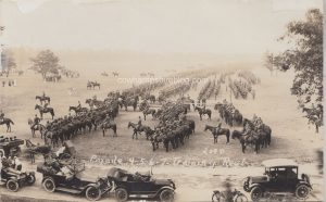 1910s Plattsburgh NY Army Training Camp Inspection Parade