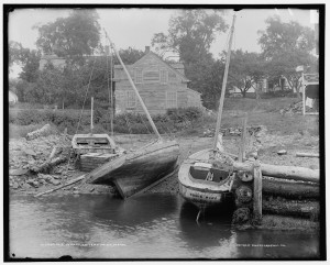 Detroit Publishing Co., Publisher. Old Wharf, Kittery Point, Maine. [Ca, 1900] Image. Retrieved from the Library of Congress