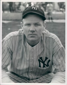 "Robert ""Red"" Rolfe, The Pride of Penacook, wearing his Yankee uniform."