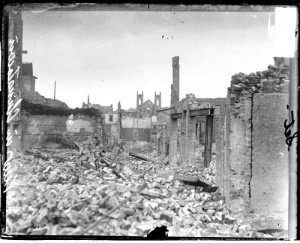 Chinatown in San Francisco after 1906 earthquake