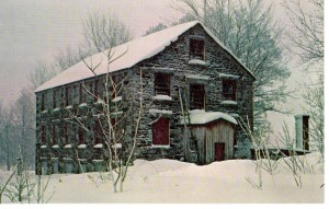 Vintage Postcard, Shaker Stone Woodworking Shop, 1849, Enfield, New Hampshire