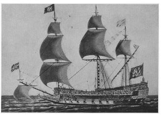 "A ""Sovereign of the Seas,"" Built in 1637 from The Ships That Sail, Lotus Magazine, May 1, 1914, page 497"