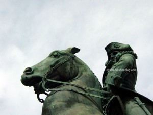 Side view of John Stark Statue, Stark Park. Photograph 2005 copyright Janice Brown