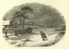 Engraving from The Snow Storm, by Esther M. Bourne, San Francisco, 1857