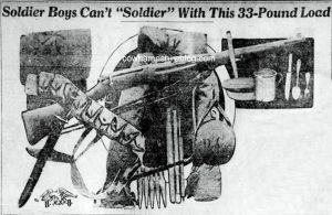 Sketch of WWI Military equipment from The Evening Journal newspaper, Wilmington Delaware of 3 July 1917