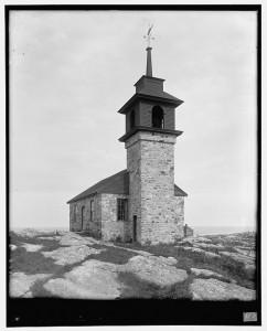 Star Island old church, Isles of Shoals, N.H.; Detroit Publishing Company; 1910; Repository: Library of Congress Prints and Photographs Division Washington, D.C.