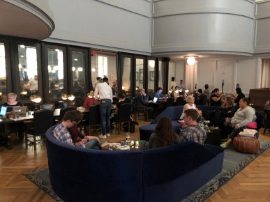 A hotel lobby or a coworking space? You tell me.