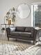 Tetbury Leather Sofa Black