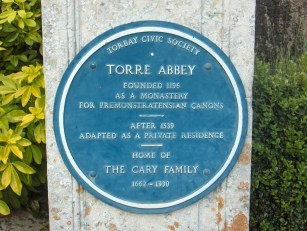torre_abbey_plaque