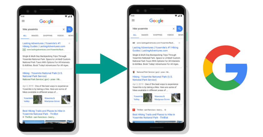 Google debuts new mobile search result that uses favicons