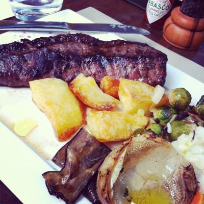 Restaurante & Adega Zino Bife Ancho com legumes | Cozinha do João