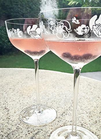 Drink refrescante Sangria de Prosecco com Blueberry | Cozinha do João