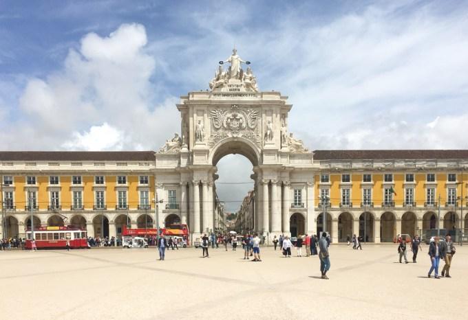 Praça do Comérico, em Lisboa — Portugal