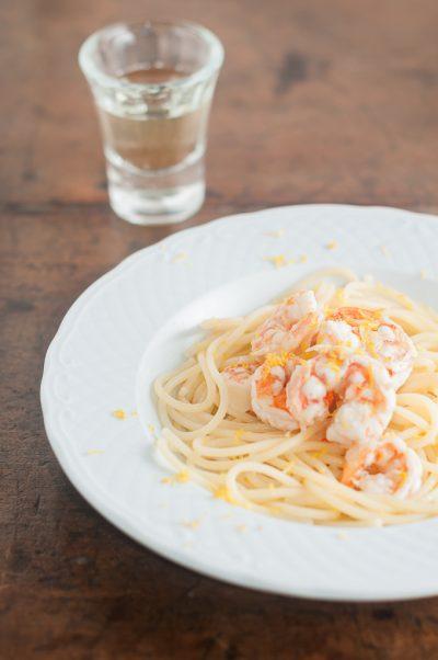 Receita de Spaghetti com camarões ao limão   Cozinha do João